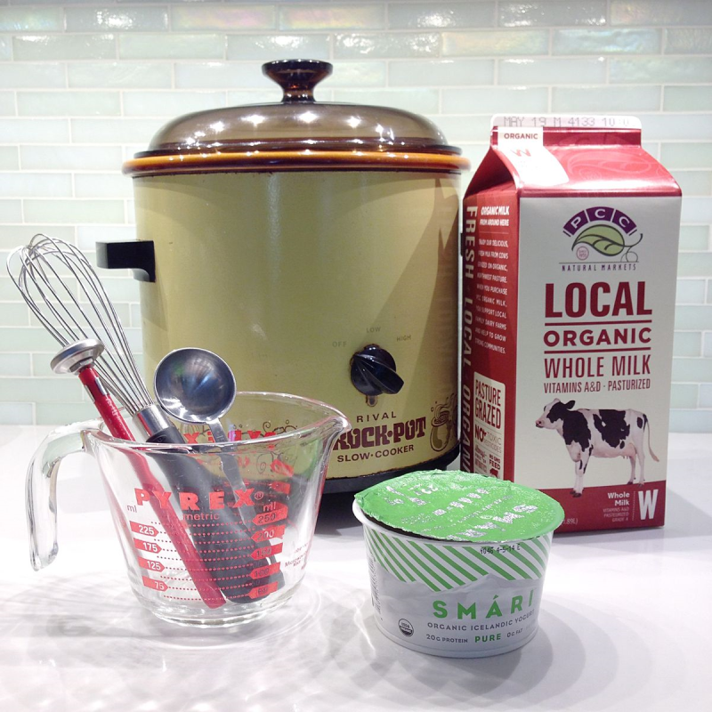 How to Make SCD Yogurt in a Crockpot