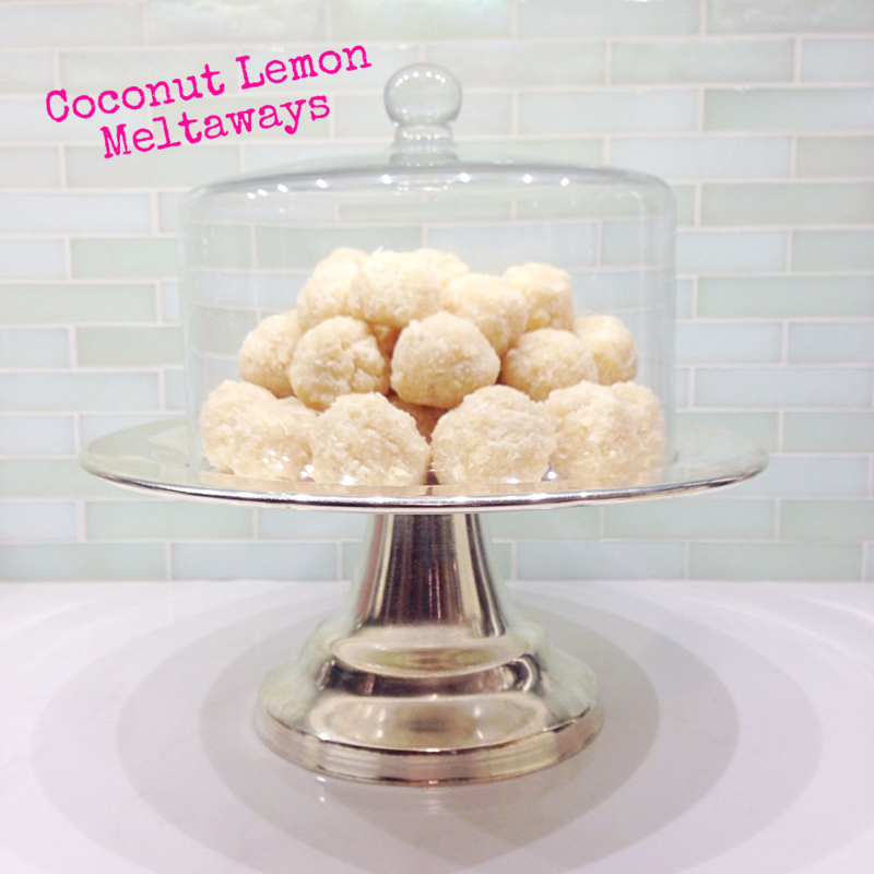 Coconut Lemon Meltaways #grainfree #glutenfree #sugarfree #dairyfree #soyfree #eggfree #scd #vegan #paleo