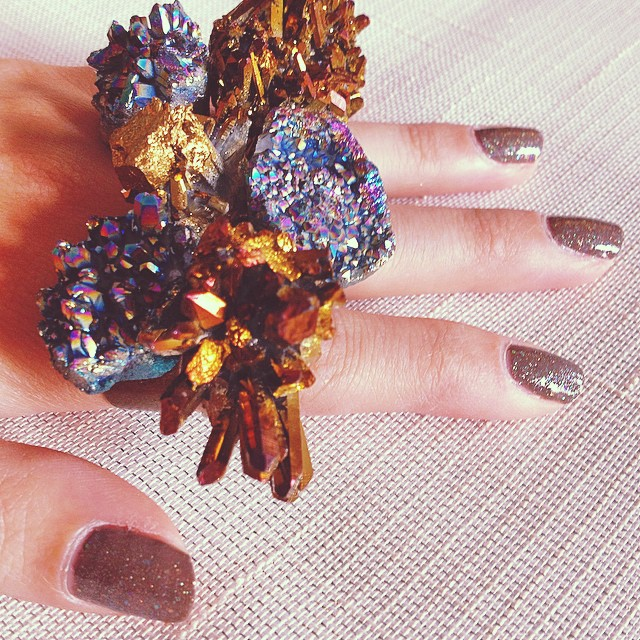 Hand full of sass!  Rocks with Sass rings on Etsy.