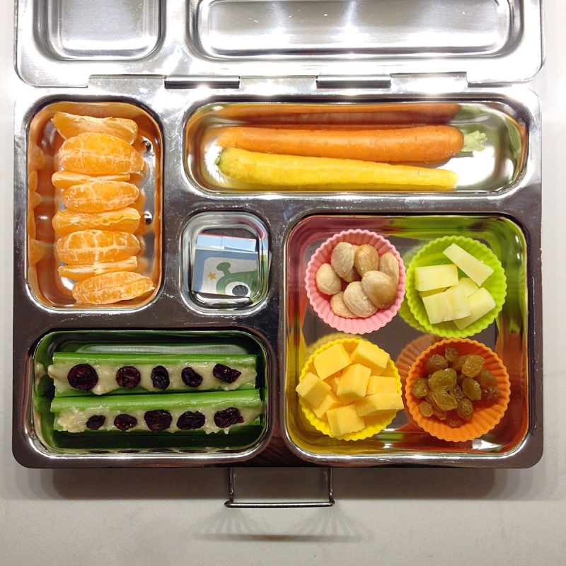 Colorful SCD/Paleo bento lunch in a Planetbox lunchbox - grain free, gluten-free, sugar-free, soy-free