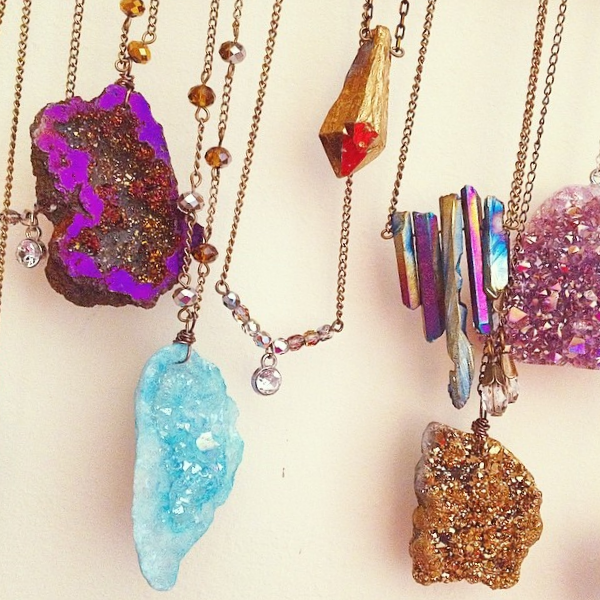 Rocks with Sass on Etsy...funky cool necklaces.aces