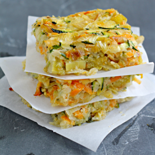 Vegetable Kugel with Leeks