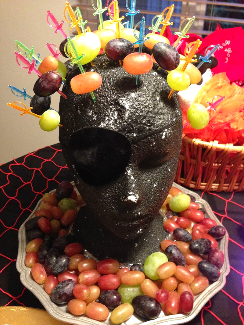 Pirate Head hors d'ouvres - SCD Halloween Party Food