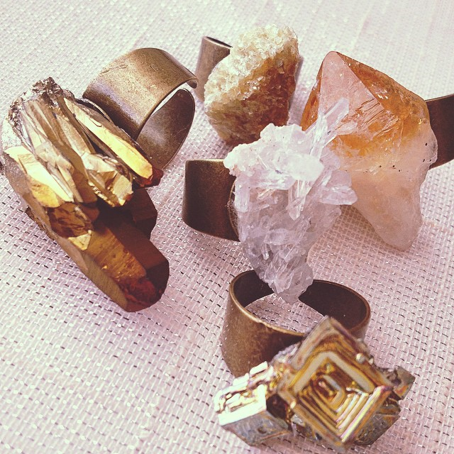 Rocks with Sass on Etsy...chunky statement rings!