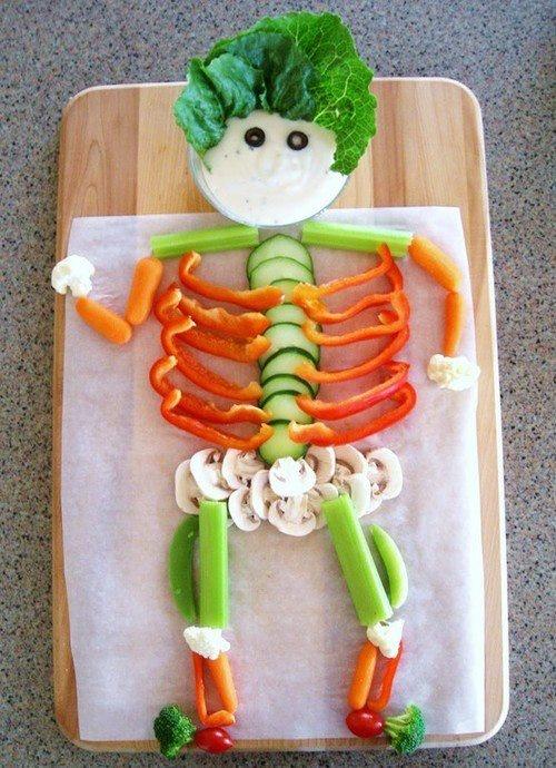 Skeleton Veggie Platter