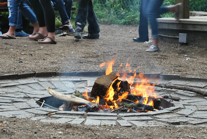 Bonfire at CCFA Camp Oasis.  Summer camp for kids with IBD