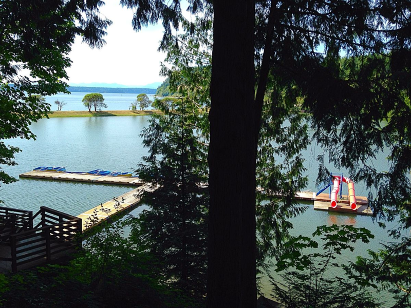 View from a cabin at CCFA Camp Oasis.  Summer camp for kids with IBD.