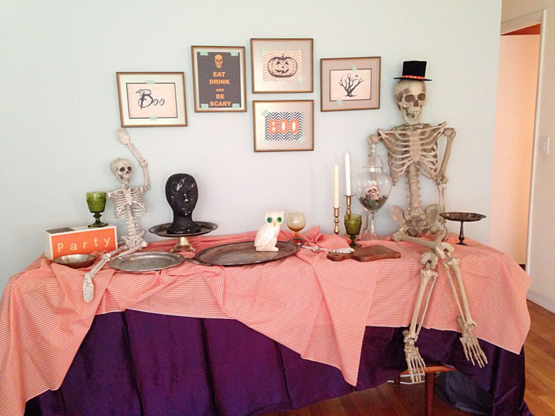 Setting the stage for Halloween buffet