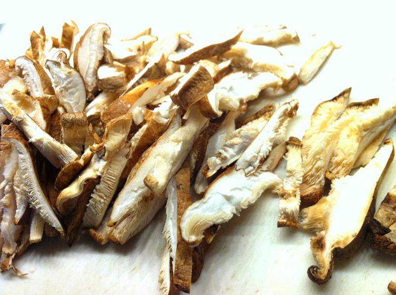 Chopped shitake mushroom