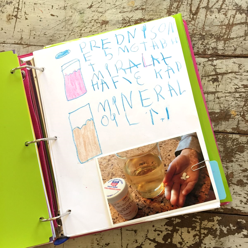 How to make an IBD journal for kids to help them cope with their IBD.