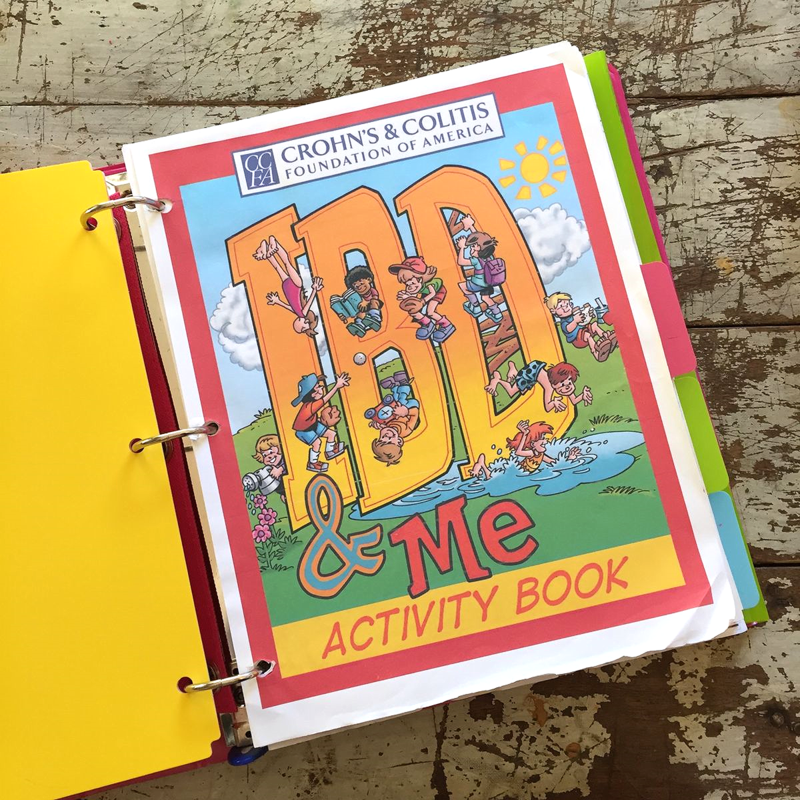 IBD and Me Activity book by the CCFA