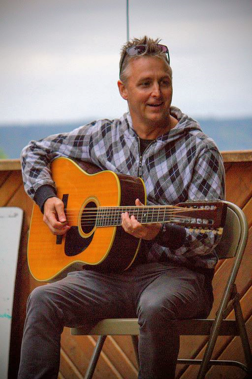 Pearl Jam's Mike McCready at CCFA Camp Oasis.  Summer camp for kids with IBD.